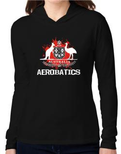Australia Aerobatics / Blood Hooded Long Sleeve T-Shirt Women