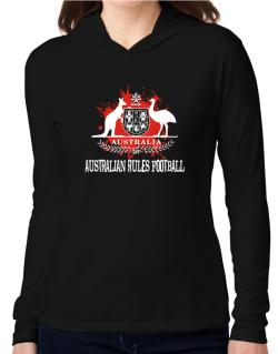 Australia Australian Rules Football / Blood Hooded Long Sleeve T-Shirt Women