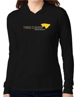 """"""" Three-Cushion - Only for the brave """" Hooded Long Sleeve T-Shirt Women"""