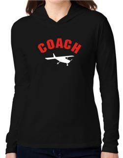 """ Aerobatics COACH "" Hooded Long Sleeve T-Shirt Women"