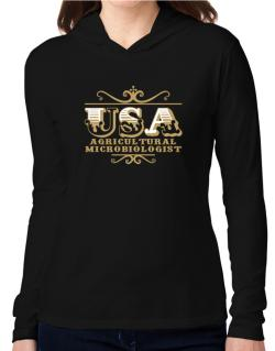 Usa Agricultural Microbiologist Hooded Long Sleeve T-Shirt Women