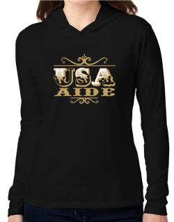 Usa Aide Hooded Long Sleeve T-Shirt Women