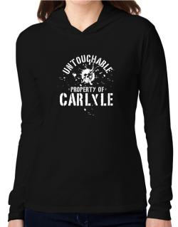 Untouchable : Property Of Carlyle Hooded Long Sleeve T-Shirt Women