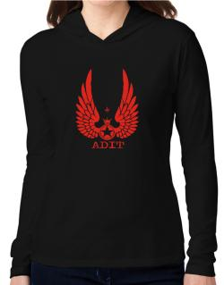 Adit - Wings Hooded Long Sleeve T-Shirt Women