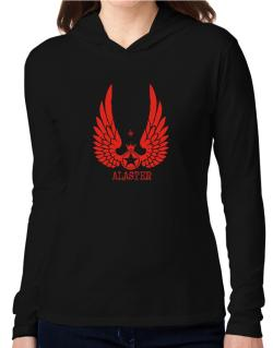 Alaster - Wings Hooded Long Sleeve T-Shirt Women
