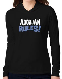 Adorjan Rules! Hooded Long Sleeve T-Shirt Women
