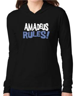 Amadeus Rules! Hooded Long Sleeve T-Shirt Women