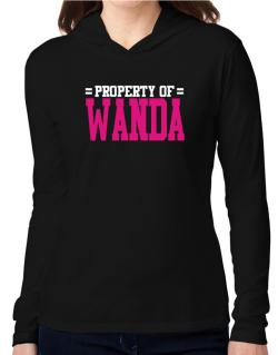 Property Of Wanda Hooded Long Sleeve T-Shirt Women