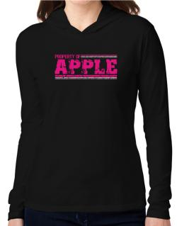 Property Of Apple - Vintage Hooded Long Sleeve T-Shirt Women