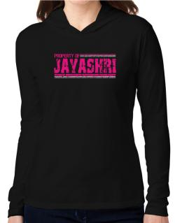 Property Of Jayashri - Vintage Hooded Long Sleeve T-Shirt Women
