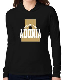 Property Of Adonia Hooded Long Sleeve T-Shirt Women