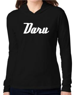 Daru Hooded Long Sleeve T-Shirt Women