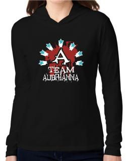Team Aubrianna - Initial Hooded Long Sleeve T-Shirt Women