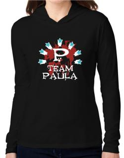 Team Paula - Initial Hooded Long Sleeve T-Shirt Women