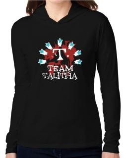 Team Talitha - Initial Hooded Long Sleeve T-Shirt Women