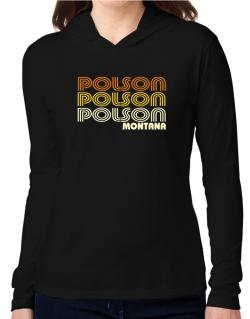 Polson State Hooded Long Sleeve T-Shirt Women