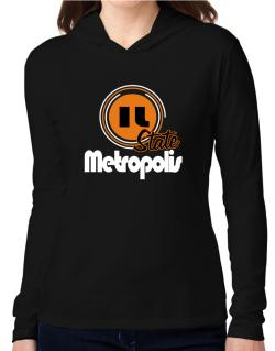 Metropolis - State Hooded Long Sleeve T-Shirt Women