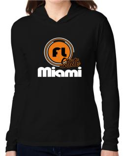 Miami - State Hooded Long Sleeve T-Shirt Women