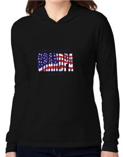 Grandpa Asheville - Us Flag Hooded Long Sleeve T-Shirt Women