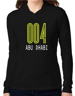 Iso Code Abu Dhabi - Retro Hooded Long Sleeve T-Shirt Women