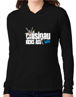 Chisinau Kicks Ass Hooded Long Sleeve T-Shirt Women