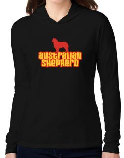 Breed Color Australian Shepherd Hooded Long Sleeve T-Shirt Women