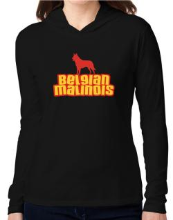 Breed Color Belgian Malinois Hooded Long Sleeve T-Shirt Women