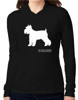 Schnauzer Hooded Long Sleeve T-Shirt Women