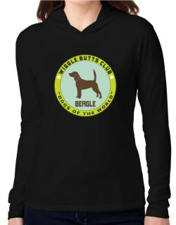Beagle - Wiggle Butts Club Hooded Long Sleeve T-Shirt Women