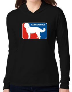 Labradoodle Sports Logo Hooded Long Sleeve T-Shirt Women