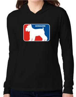 Schnauzer Sports Logo  Hooded Long Sleeve T-Shirt Women