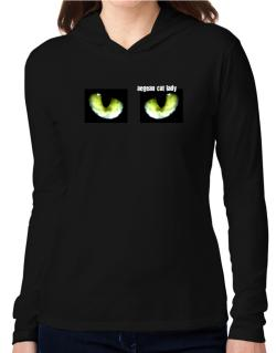Aegean Cat Lady Hooded Long Sleeve T-Shirt Women