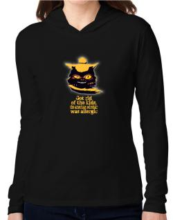Got Rid Of The Kids, The American Wirehair Was Allergic Hooded Long Sleeve T-Shirt Women
