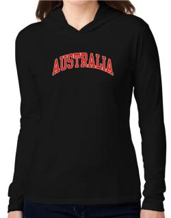 Australia - Simple Hooded Long Sleeve T-Shirt Women