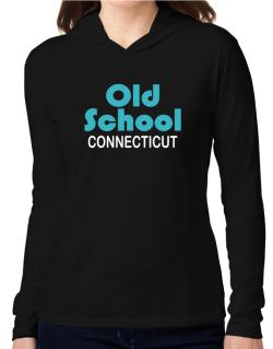 Old School Connecticut Hooded Long Sleeve T-Shirt Women