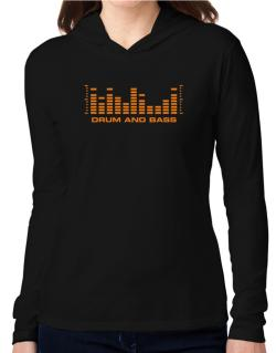 Drum And Bass - Equalizer Hooded Long Sleeve T-Shirt Women