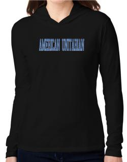 American Unitarian - Simple Athletic Hooded Long Sleeve T-Shirt Women