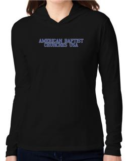 American Baptist Churches Usa - Simple Athletic Hooded Long Sleeve T-Shirt Women