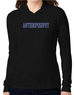 Anthroposophy - Simple Athletic Hooded Long Sleeve T-Shirt Women