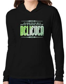 Abenaki Mythology Believer Hooded Long Sleeve T-Shirt Women