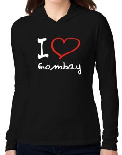 I Love Gombay Hooded Long Sleeve T-Shirt Women