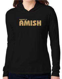 Property Of Amish Hooded Long Sleeve T-Shirt Women