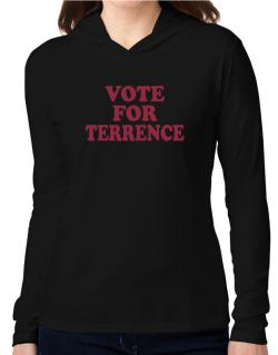 Vote For Terrence Hooded Long Sleeve T-Shirt Women