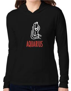 Aquarius - Cartoon Hooded Long Sleeve T-Shirt Women