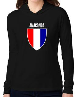 Anaconda Escudo Usa Hooded Long Sleeve T-Shirt Women