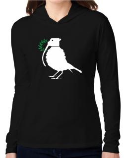 Dove grenade  Hooded Long Sleeve T-Shirt Women