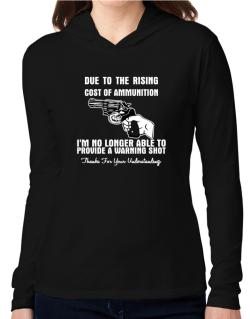 Warning shot Hooded Long Sleeve T-Shirt Women