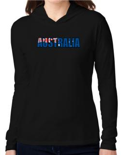 Australia Flag  Hooded Long Sleeve T-Shirt Women