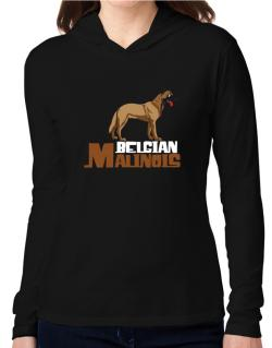Belgian malinois cute dog Hooded Long Sleeve T-Shirt Women