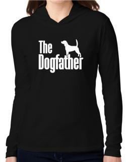 The dogfather Beagle Hooded Long Sleeve T-Shirt Women